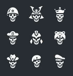 Set of skeletons icons vector