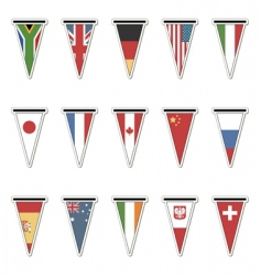 flag stickers vector image