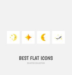 Flat icon bedtime set of nighttime moon night vector