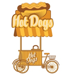 hot dog on wheels vector image