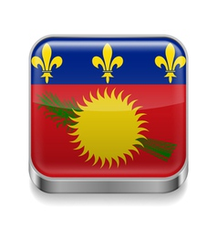 Metal icon of guadeloupe vector