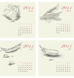 template for calendar 2011 vector image