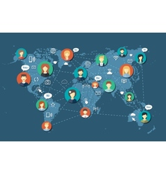 Social people network community vector