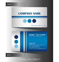 A blue colored calling card vector