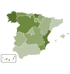 Spain silhouette map vector