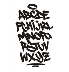 Graffiti font handwritten alphabet vector