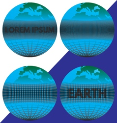 The earth the globe with the text vector