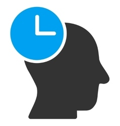 Time thinking icon vector