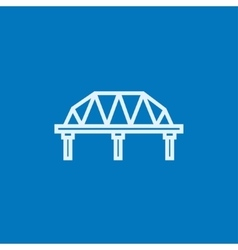 Rail way bridge line icon vector