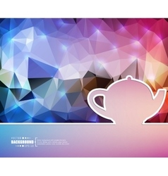 Creative teapot art template vector