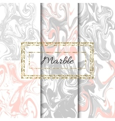 Marble texture set Hand drawn ink marble vector image