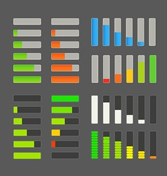 Charge bar collection Application design elements vector image