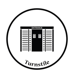 Stadium entrance turnstile icon vector