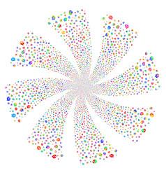 Arguments fireworks swirl flower vector