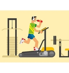 Athlete Running on a Treadmill vector image