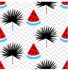 Beautiful seamless pattern on zig zag background vector