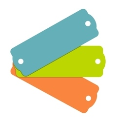 Blank tag labels icon flat style vector