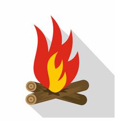 bonfire icon flat style vector image vector image