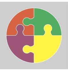 Circular colorful icon vector