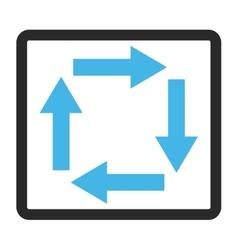 Circulation arrows framed icon vector
