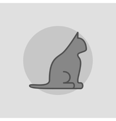 Dark cat icon vector image