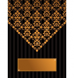 decorative black and gold background vector image