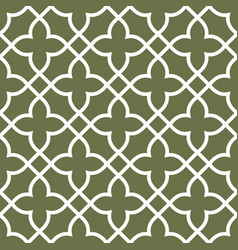 figured seamless grating pattern - arabesque vector image