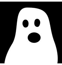 Ghost Halloween white black background vector image
