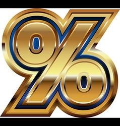 Golden percent symbol vector