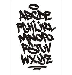 Graffiti font handwritten alphabet vector
