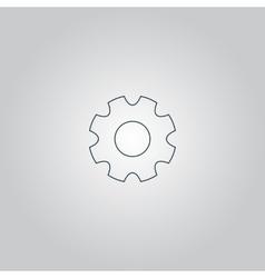machine gear icon vector image