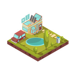 Mobile house isometric vector