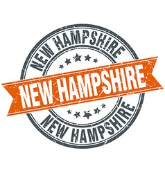 New hampshire red round grunge vintage ribbon vector