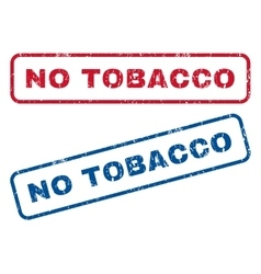 No tobacco rubber stamps vector