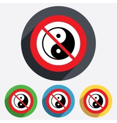 No Ying yang sign icon Harmony and balance vector image vector image