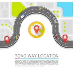 Paved path on the road background vector