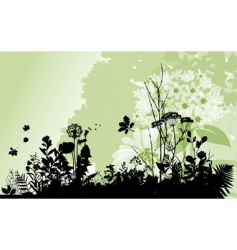 plants vector image