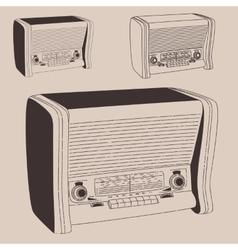 radiogramophone vector image