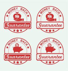 Round red stamp set vector