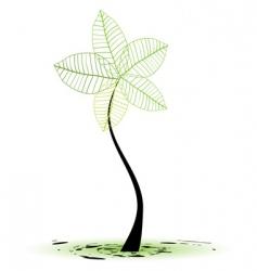 Sapling tree vector