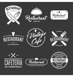 Set of vintage style elements labels and badges vector image