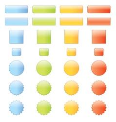 Shiny web elements vector image