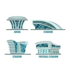 Soccer or football sport stadium field vector image vector image