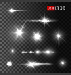 stars shine light isolated icons vector image vector image