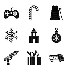toy car icons set simple style vector image vector image