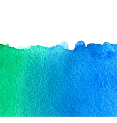 Watercolor green and blue background vector