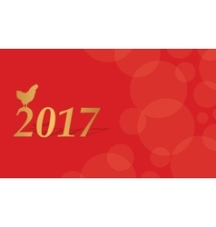 Red greeting card of chinese new year vector