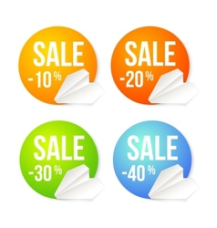 Paper plane icon on a badge background vector image