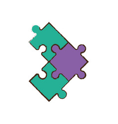 jigsaw puzzle pieces image vector image