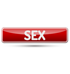 Sex - abstract beautiful button with text vector